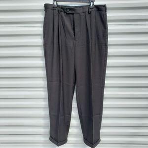 JF J. Ferrar black pleated dress pants 36x30